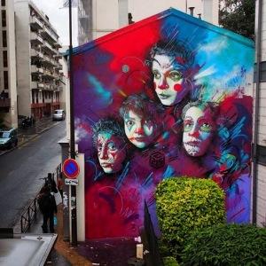 C215 in Paris, France #streetart #mural