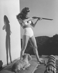 Vintage Photos of  Girl with Pistol (32)