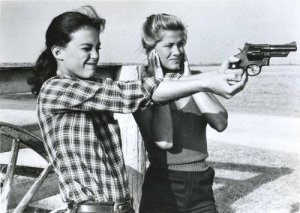 Vintage Photos of  Girl with Pistol (34)