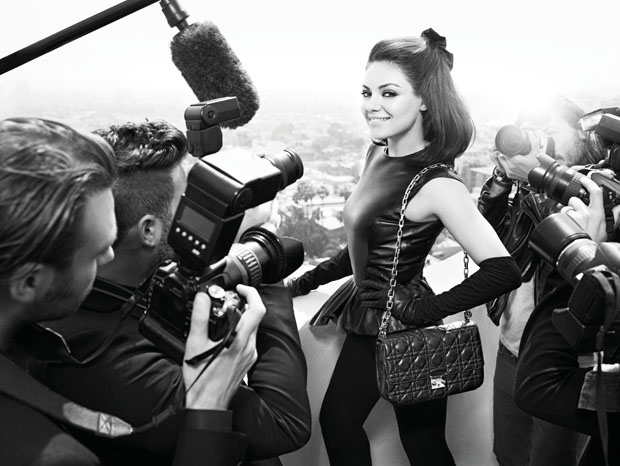 Mila Kunis Dior handbags fall 2012 ad campaign photographer Mario Sorrenti styling Carine Roitfeld black and white 005